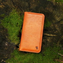 Brown wallet opening phone case,for iphone genuine leather case