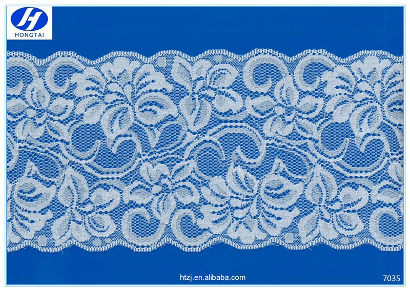 Hongtai Linen 14cm stretch lace fabric wholsale flower design lace fabric market in dubai