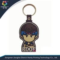 Black New Rubber Motorcycle Cool Keychain Key Chain Keyring