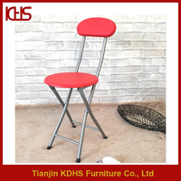Small volume pu leather cover chair portable metal bar stool
