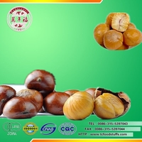 The delicious roasted& peeled Chinese chestnut snack foods