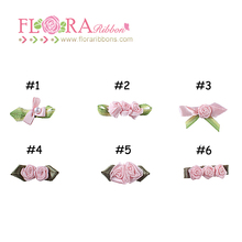 2017 New listing cheap boutique rose decoration mini satin ribbon bow