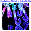 4m 20 LED Life Waterproof RGB Candy Cane Modeling Christmas LED String Lights