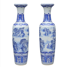 Wholesale Chinese Jingdezhen antique home decorative hand painted ceramic large floor vases