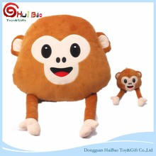 Cute monkey can make four gesture plush toy sleeping pillow doll animal pillow