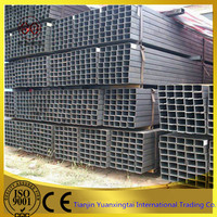 welded greenhouse RHS astm A36 balck steel pipe made in tianjin