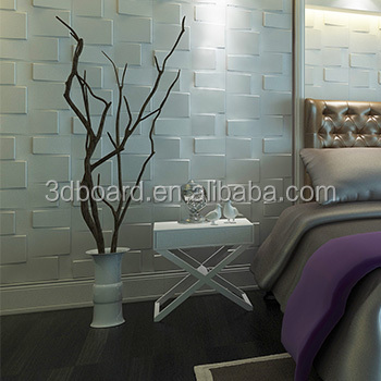 Modern white brick design wooden decorative 3d wall panels for walls