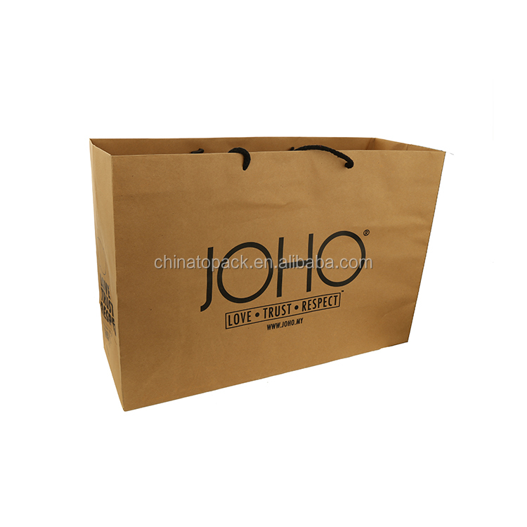 Free sample- Hot sale custom brown paper bag