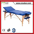 Pliable en bois spa de table / lit de massage