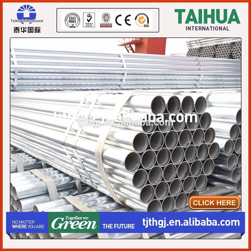 ASTM A53 Grade A and B schedule 40 galvanized steel pipe