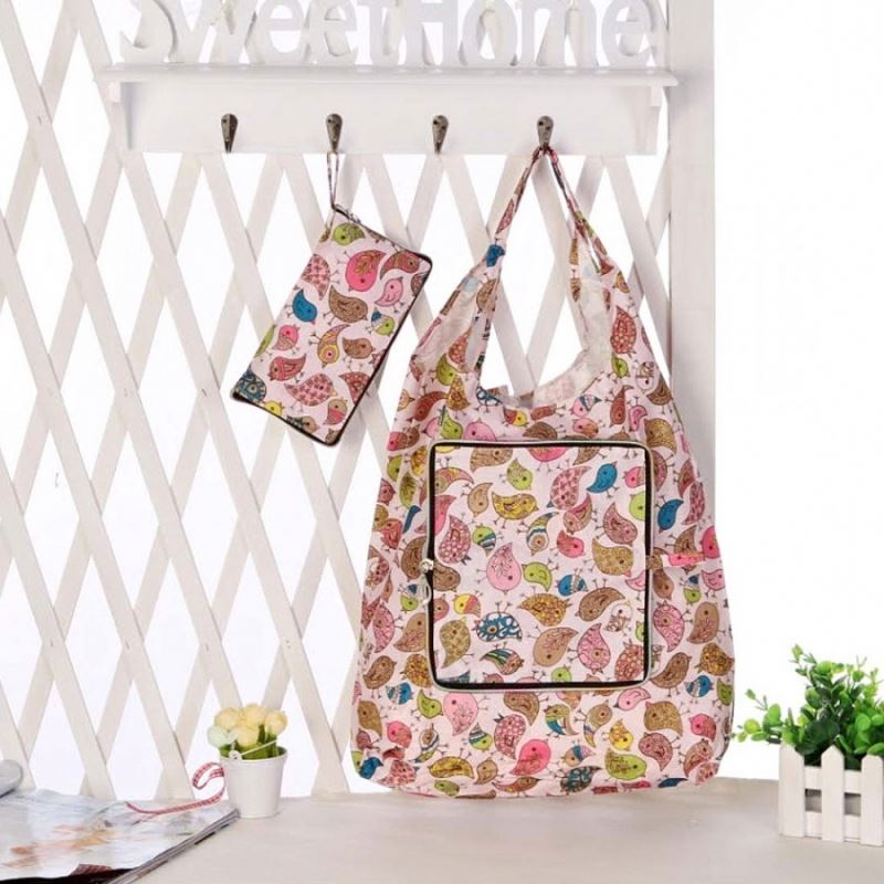 Polyester Ice Cream Shape Foldable Bag With Cupcake Design