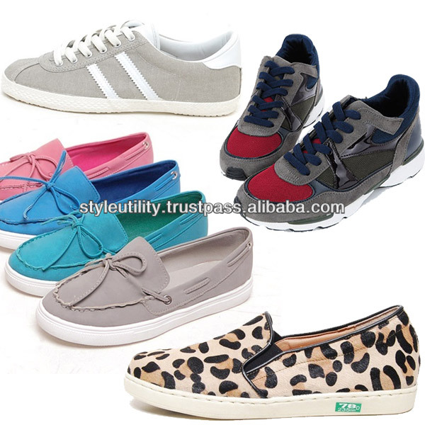 2014 s/s women athletic plat canvas pu fashion sneakers made in korea