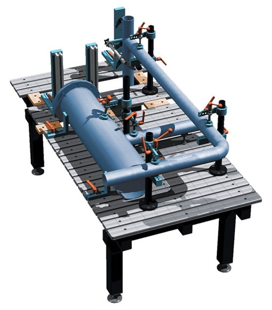 the flexible 3D welding table (fixture & bench)