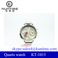 2014 latest watches design for ladies beautiful Eiffel tower pattern big dial ladies watches