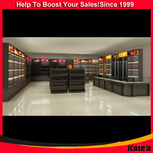 2015 retail shop wooden cigarette display cabinets