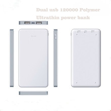 High Capacity 12000mAh Dual-Port External Battery Charger Power Bank for blackberry q10