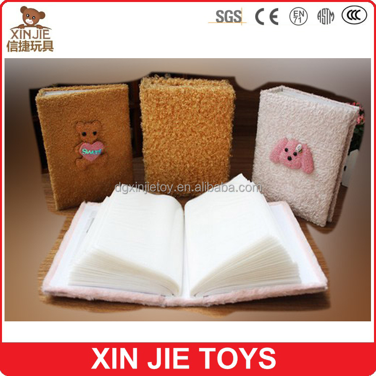 custom plush animal and doll photo album for children