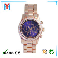 Mature and stable violet rose gold men business watches wholesale