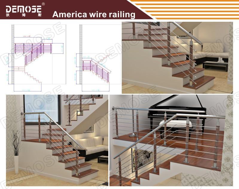 China Balcony Stainless Steel Railings Price Prefab Metal