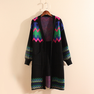 Stylish Design Multi Color Winter Knit Clothes Women Trench Coat