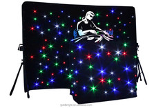 led wedding decoration,lighted backdrops for weddings,led star cloth curtain