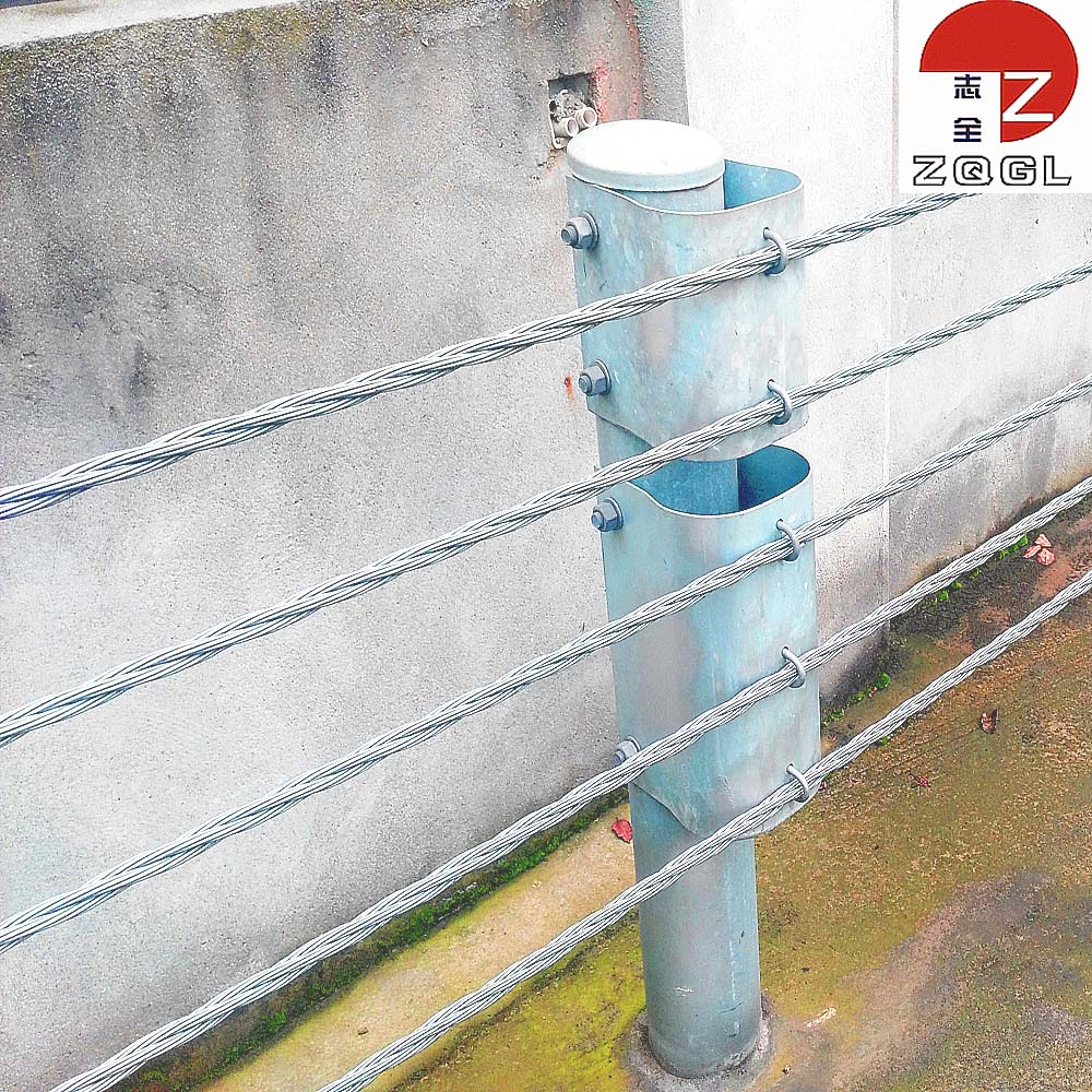 Galvanized Wire Cable Guardrail Barriers With High Tension Strength ...