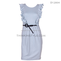Sleeveless jersey cotton dress