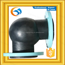 Factory competitive price flexible rubber elbow expansion joint with flange pipe