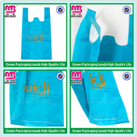 Carrier hand bag convenience T-shirt bag customized plastic bag shopping package