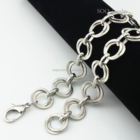2015 European Style Stainless Steel Link Circle Latest Design Silver Chain Necklace for Mans