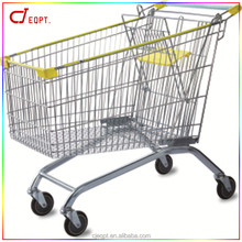 Heavy capacity large liters metal supermaket shopping trolley supermarket cart