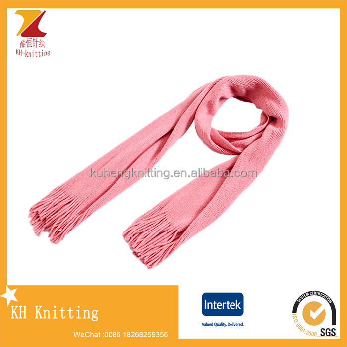 Promotion Christmas acrylic knitting Scarf for women