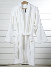 Superior Custom White Hotel 100% cotton Terry Bathrobe for Women
