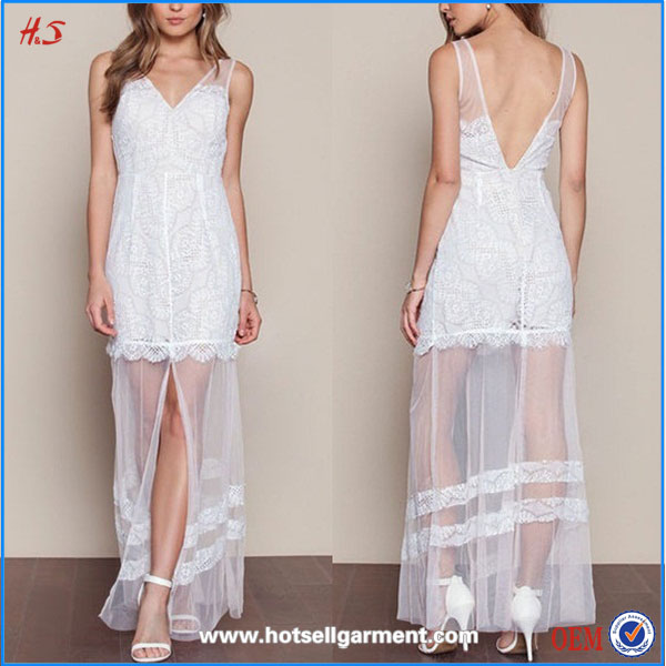 Ladies fashion dresses with pictures off white lace veil lady maxi dresses for women