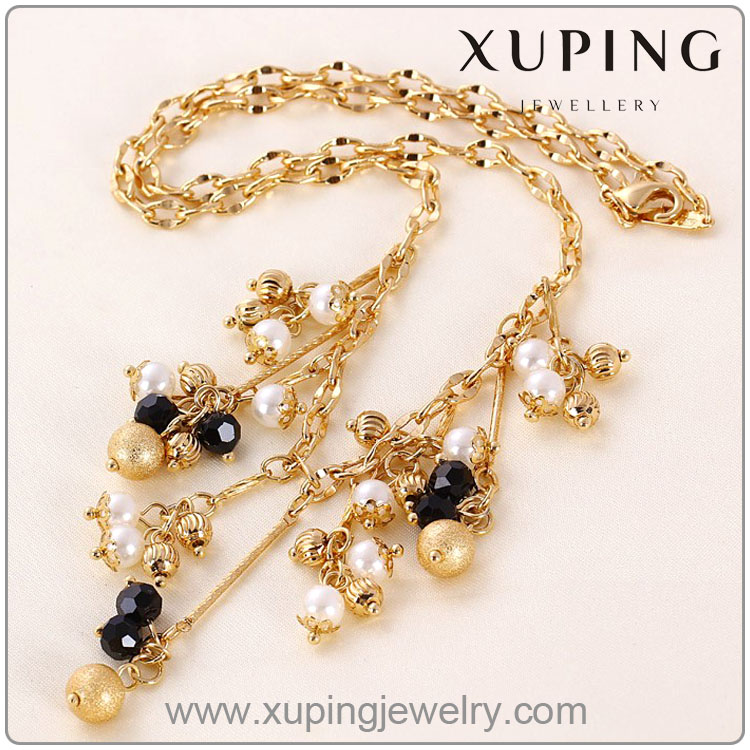 41358 xuping fashion necklace Italian costume 18k gold color jewelry