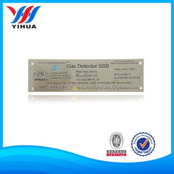 stainless steel labels with company logo for machines