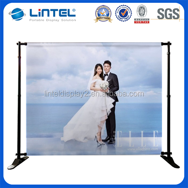 Customized design easy and durable aluminum wedding backdrop