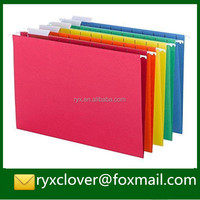 Office Stationery Eco-friendly A4 Size Colorful Hanging Paper File Folder