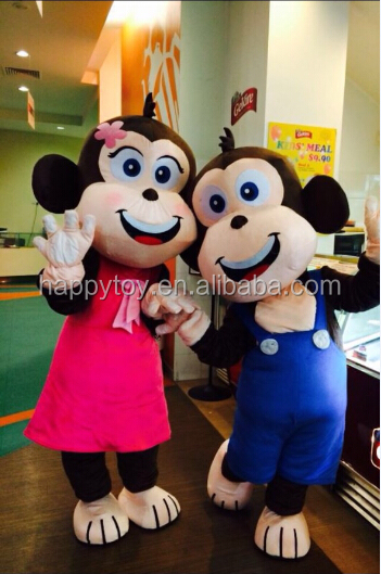 HI CE 2016 New year monkey animal mascot costume,adult couple monkey costume,cheap monkey mascot costumes