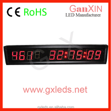 9 digits led numeric screen boxing day display