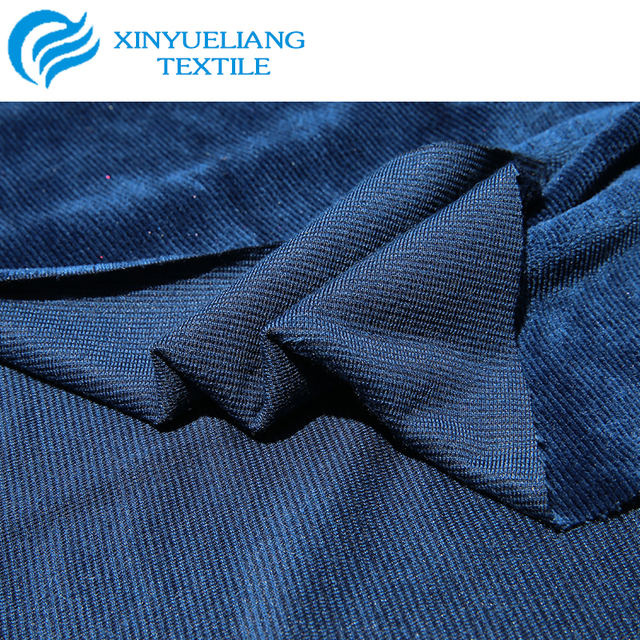 100% Polyester velvet fabric used for dresses and home textile