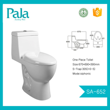 Classical siphon flushing ONE PIECE TOILET with strong power to drain