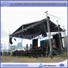 Outdoor concert stage roof truss design