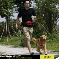 New style pet running waist bag with hand free dog leash