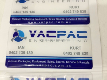 custom engineering nameplate, PU transparent dome nameplate
