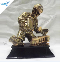 Wholesale Fancy Ice Hockey Sport Resin Figure