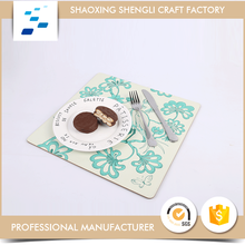 Customized colorful refresh printed paper MDF cork coasters custom for lunch