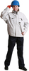 china supplier clothing adult waterproof plastic pant jacket bomber