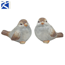 New retro garden decorate white pottery bird figurines