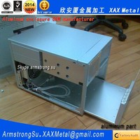 XAX58Alu OEM ODM customized laser cut bend weld plate aluminum portable digital luggage weighing scale box